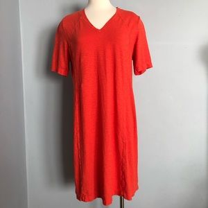 Eileen Fisher Red Casual V Neck Dress